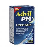 Advil PM Liqui-Gels Ibuprofen 200mg Pain Reliever Liqui-Gels 布洛芬 晚间止痛退烧药 (80 颗 液体胶囊)