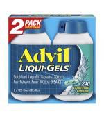 Advil Ibuprofen 200mg Pain Reliever/Fever Reducer Liqui-Gels (2 x 120 Liquid Filled Capsules)