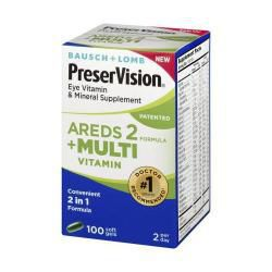 Bausch & Lomb PreserVision Eye AREDS 2 + Multi Vitamins (100 Softgels)