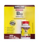 Kirkland Signature Quick Dissolve B-12 5000 mcg 舌下含片 维生素 B-12 (300 颗)