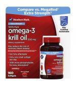 Member's Mark Extra Strength Omega 3 Krill Oil 三倍強效 磷蝦油 (160 顆膠囊)