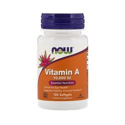 Now Foods Vitamin A 10000 IU (100 Softgels)